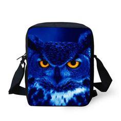 Cute 3D Animal Panda Owl Printing Messenger Bags for Women Mini Cat Dog Shoulder Handbag Casual Lady Girls Crossbody Bag High