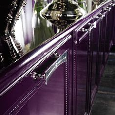 Luxury Purple Kitchen ... Cabinet Details