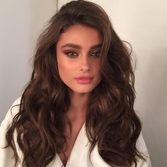 @taylor_hill looking stunning today @victoriassecret and camera ready! Hair by me and make up by @hungvanngo #lovemyjob #grateful #beauty