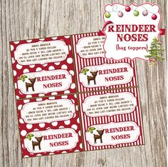 Free Christmas Reindeer Noses bag toppers!