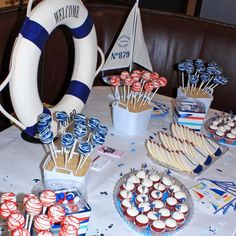 nautical sweets table