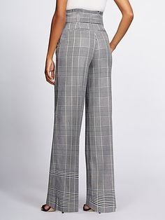 Gabrielle Union Collection – Tall Plaid Wide-Leg Pant – New York & Company - Hosen Baggy Pants, Plaid Pants, Wide Leg Pants, Women's Pants, Dress Pants, Trousers, Fashion Pants, Fashion Dresses, New Yorker Mode