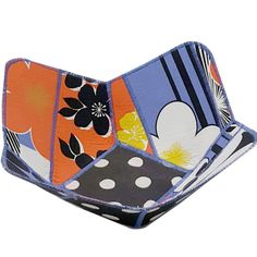 Reversible Fabric Bowl in Bold Floral and Polka by Sieberdesigns