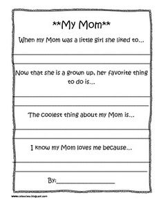 Something cute to do at the end of school for mother's day!