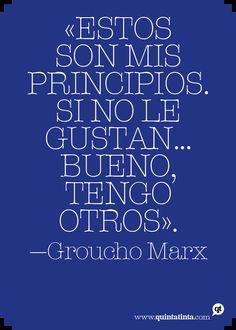 Una cita de Groucho Marx.