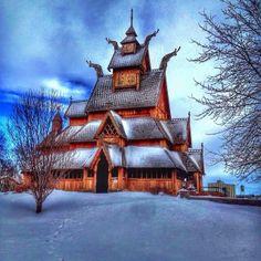 Gol Stav Church Museum at Scandinavian Heritage Park in Minot, North Dakota, by @debbie11dunn via Instagram. Share your #midwestmoment: http://www.instagram.com/midwestlivingmag