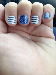Navy quarter foil with anchors www.nailbiz.jamberrynails.net