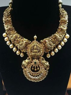 South Indian Jewellery, Indian Jewelry, Real Gold Jewelry, Jewelry Box, Latest Jewellery, Temple Jewellery, Ear, Pendants, Jewels