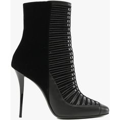 Balmain Verneuil patent-leather ankle boots ($745) ❤ liked on Polyvore featuring shoes, boots, ankle booties, ankle boots, footwear, heels, black, high heel ankle booties, black bootie and black heel booties