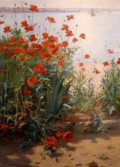 Georges Binet  Poppies on the Coast    Late 19th - early 20th century
