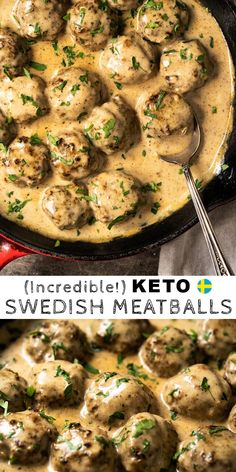 Free & Keto Swedish Meatballs (A Family Recipe!) - Ideen fürs Essen -Gluten Free & Keto Swedish Meatballs (A Family Recipe!) - Ideen fürs Essen - 5 Delicious Chicken Recipes for Family & Couple Ketogenic Recipes, Low Carb Recipes, Healthy Recipes, Free Keto Recipes, Carb Free Meals, Crockpot Recipes, Lower Carb Meals, Crockpot Meat, Healthy Food