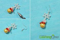 Finish the snowman drop earrings
