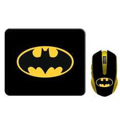 Batman Mouse & MousePad Combo - Available in Cordless and USB Corded Packs