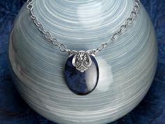 Free Ideas: Artbeads.com - Night Sky. Clever use of charm to create pendant
