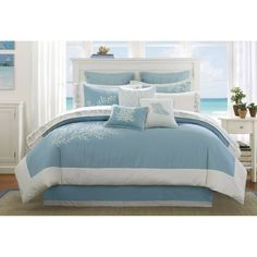 Harbor House Aqua Coastline Comforter Set