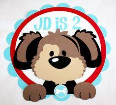 Puppy Birthday Door Sign