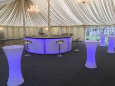 Our LED Bar & Poseur Tables were looking great together, alongside our White Furniture at Pontlands Park Hotel.  www.alfrescohire.co.uk 01279 870997  #eventhire #wedding #barhire #venue #furniture