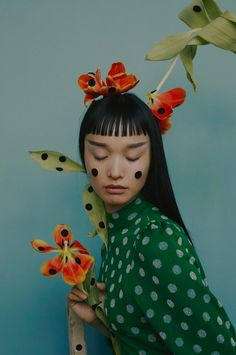 Model Yuka Mannami is styled by Katerina Zolototrubova in a high concept fashion story lensed by Fanny Latour-Lambert for Vogue Russia May Photo Reference, Art Reference, Fanny Latour Lambert, Fashion Photography Inspiration, Vogue Russia, Mode Outfits, Collages, Editorial Fashion, Portrait Photography