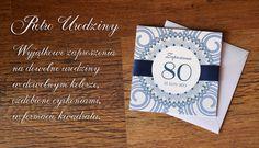 Zaproszenie na 80 urodziny w stylu Retro