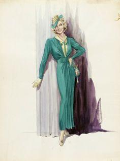 Costume Sketch  Herschel McCoy  c.1940 LACMA  fonte: http://ellimiss.tumblr.com