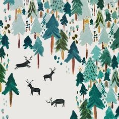 WEBSTA @ dori_sue - Winter is coming #artist : @rosieharbottle #image #instaart #instapic #instagood #illustration #illustrations #illustrazione #illustrationart #illustrationdesign #illustrationoftheday #picture #pic #design #designinspiration #artistic #art #creativity #forest #snow #winter #trees #white #drawing #drawings #deer