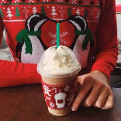 A SWEATER FOR YOUR FRAPPUCCINO?! YYYAAASSS. Buy any sized Frappuccino on Friday, 12/18 using your registered My Starbucks Rewards card or our app, and get a Frappuccino cozy – U.S. & Canada only, while supplies last.