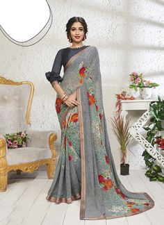 Buy Sareetag Grey Designer Casual Wear Mejor Georgette Saree in USA, UK, Canada. Get the best designer collection of Cotton, Silk, Linen, Georgette, Wedding and bridal Saree. »Express Shipping »100% Original »Customize Stitching. Bridal Sarees Online, Georgette Sarees, Grey Fabric, Cotton Silk, Designer Collection, Party Wear, Casual Wear, Cool Designs, Stitching