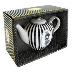Teáskanna porcelán - Gorjuss - Stripe Collection - The Hatter