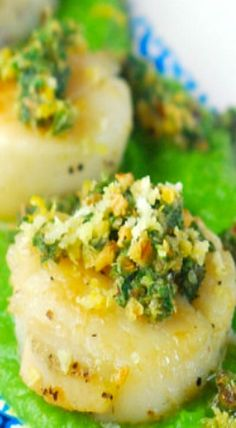pea purée and mint gremolata seared scallops with pea puree and mint ...