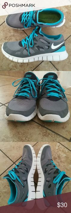 Mens Nike Free Run 2 In perfect condition. No major flaws, just a few tiny scuffs on the soles from gentle wear. Have been washed and sanitized. Nike Shoes Athletic Shoes
