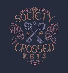 Society of Crossed Keys - BustedTees - Image 0