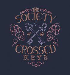 Society of Crossed Keys - BustedTees - Image 0