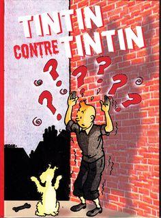 HOMMAGE A HERGE TINTIN CONTRE TINTIN. Album cartonné avec titre imprimé au dos, 42 pages en noir et blanc par Octave Hergé-Belle. Tirage limité à 50 exemplaires.