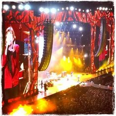 The Rolling Stones in Stockholm, July 1st. 2014 - great lightshow