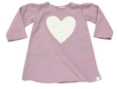 Just add boots. TOO CUTE. (Organic) Fleece Heart Dress from Go Gently Baby.