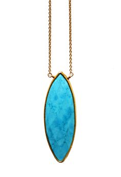 TURQUOISE marquise necklace