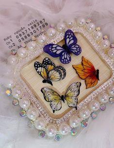 3d Nails, Blue Nails, Acrylic Nails, Butterfly Nail, Diy Crafts For Gifts, Fun Activities, Nail Art Designs, Lily, Fantasy