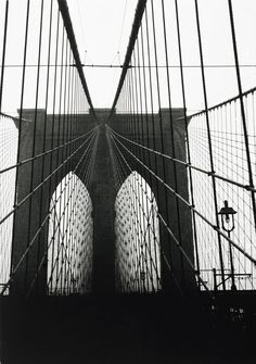 Brooklyn Bridge, New York, 1929, printed ca. 1970  Walker Evans (American, 1903–1975)  I would love this in my house.
