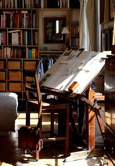 I dream of old drafting tables.... have pinned other ones - basically I'd take any of them and give them a good home...