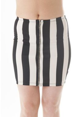 #DivaNY.comDivany         #Skirt                    #Striped #Black #White #Pencil #Midi #Skirt         Striped Black & White Pencil Midi Skirt                                       http://www.seapai.com/product.aspx?PID=1237906
