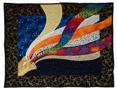 Night Music - my first original art quilt.  2006, Mary Louise Gerek