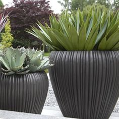 Cadix Capi Nature Round Vase Planter - Anthracite