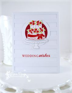 """A Creative Touch: Reverse Confetti """"Candles and Confetti"""" Wedding Card"""