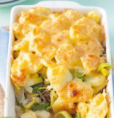 Deze preischotel is lekker met gehakt, maar kan ook met kip of vegetarisch gehakt gemaakt worden om 'm zo naar jouw smaak aan te passen.