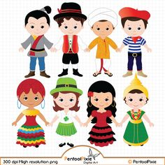 children of the world clipart part 1 children around the world rh pinterest com Travel around the World Clip Art Clip Art Black and White around the World