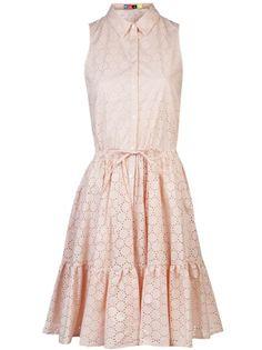 Msgm Perforated Pleated Dress - Farfetch.com