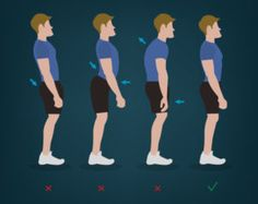 Bad posture leads to An easy thing to do to keep your back for example, is to avoid slouching. Slouching puts more pressure on the discs and vertebrae of your back. Doi Song, Health Images, Bad Posture, Low Back Pain, Your Back, Daily News, Lifestyle, Healthy, Easy