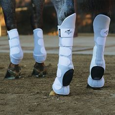 VenTECH Slide-Tec Tall-Tops Skid Boots keep your horse protected all the way past the top of the hock.