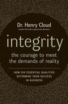 Henry Cloud / Integrity