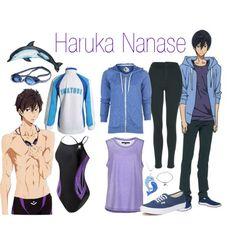 Haruka Nanase - Free! Iwatobi Swim Club by alt-jay on Polyvore featuring Volcom, Minimum, Topshop, Vans, TYR and Speedo